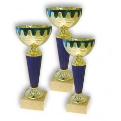 Наградной кубок золотого и синего цвета