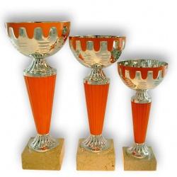 Coupe sportive économique argent et orange