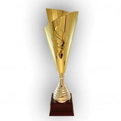 Золотой кубок факельной формы с олимпийского огня