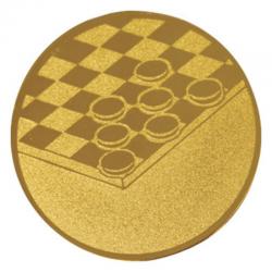 Pastille dorée jeux de dames