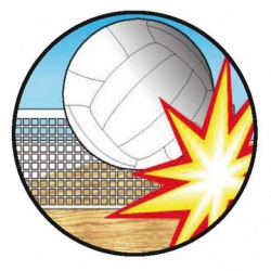 Pastille volleyball 3D