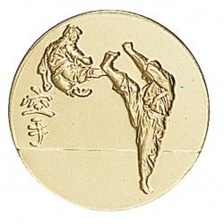 Pastille dorée karaté