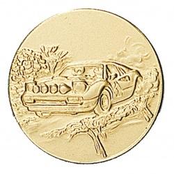 Pastille dorée rallye automobile