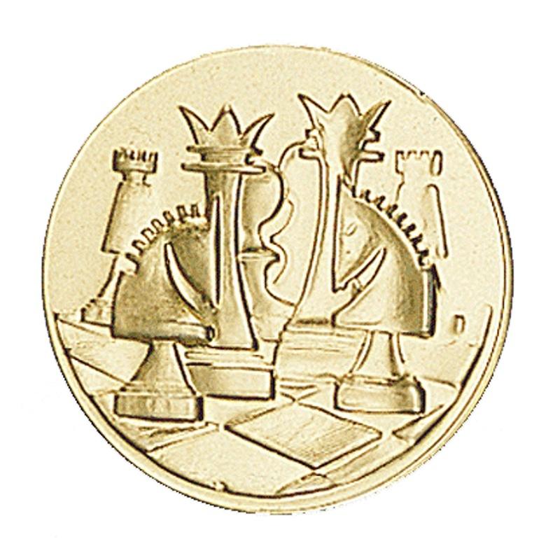 Pastille dorée échecs