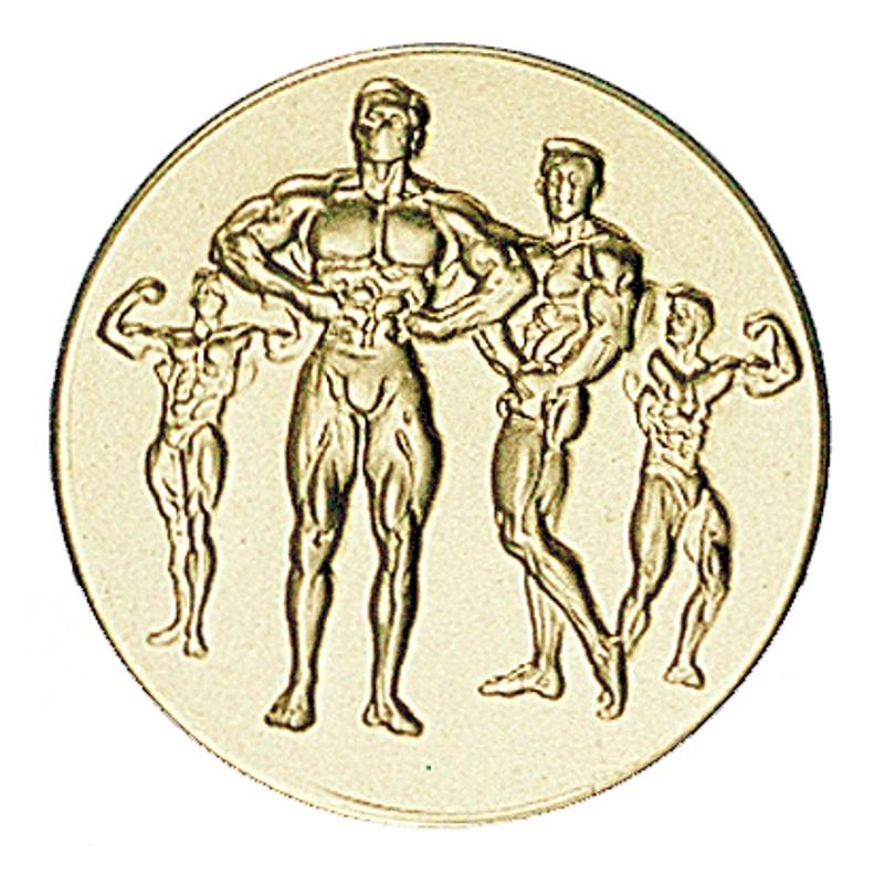Pastille dorée bodybuilding