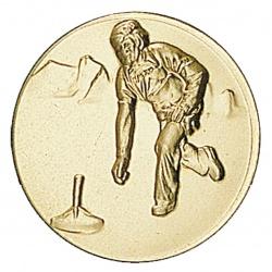 Pastille dorée curling