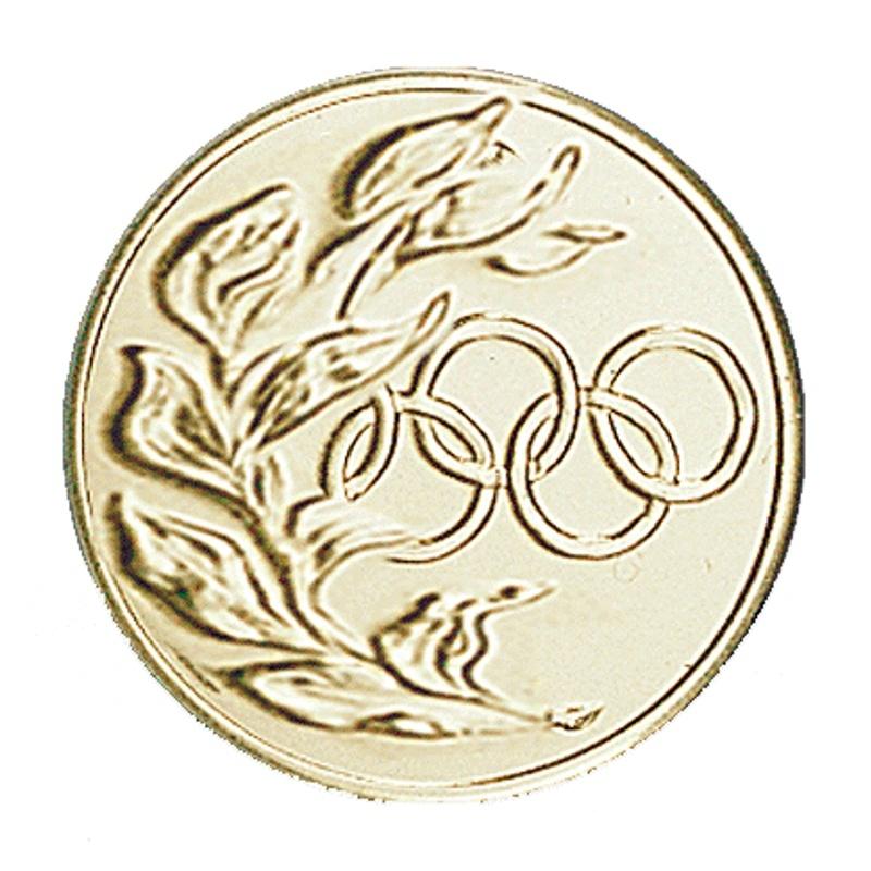 Pastille dorée Anneaux Olympiques