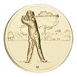 Pastille dorée golf