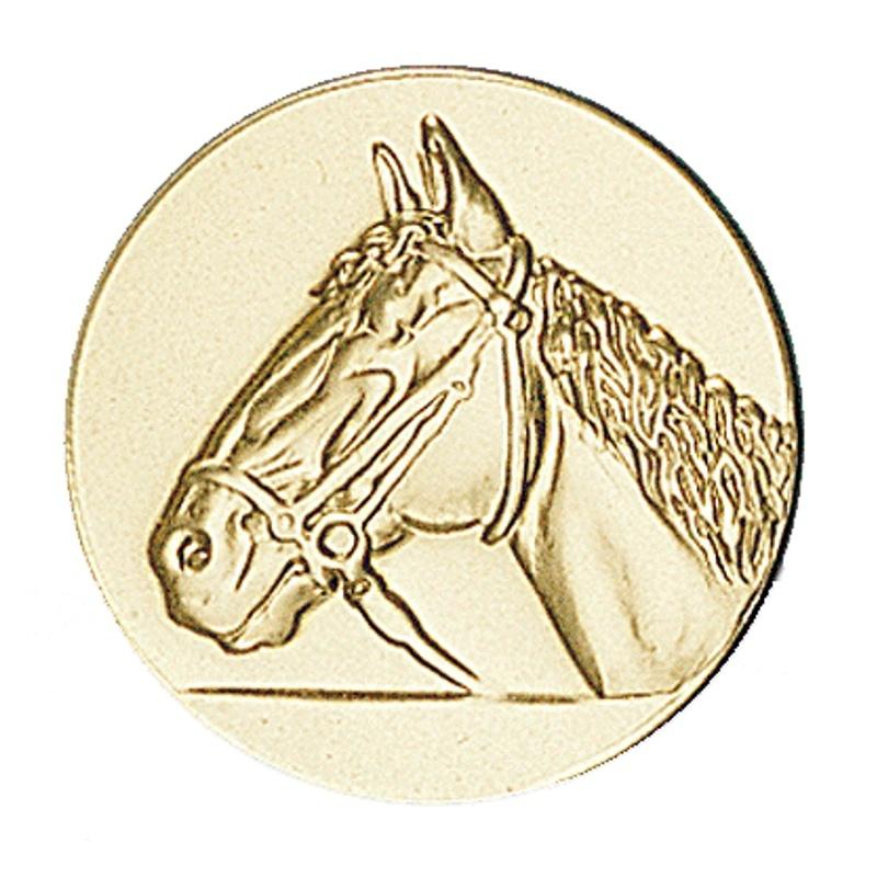 Pastille dorée cheval - équitation
