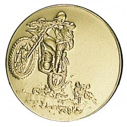 Pastille dorée moto-cross