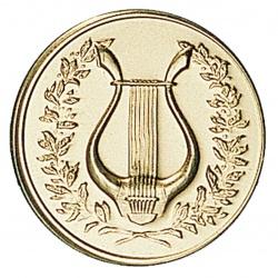 Pastille dorée lyre - musique