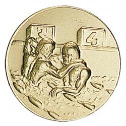 Pastille dorée victoire natation
