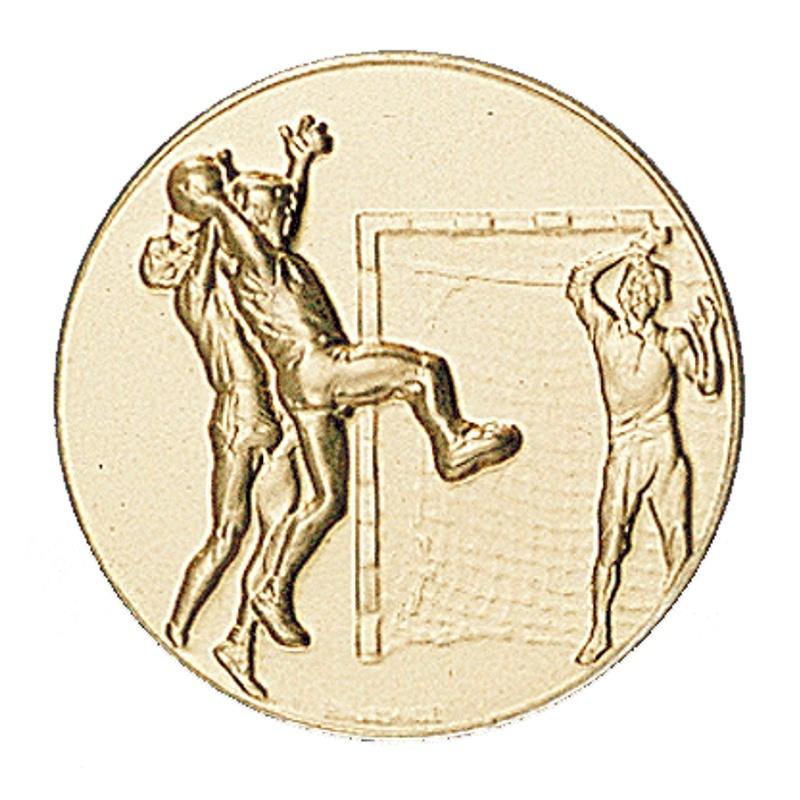 Pastille dorée handball