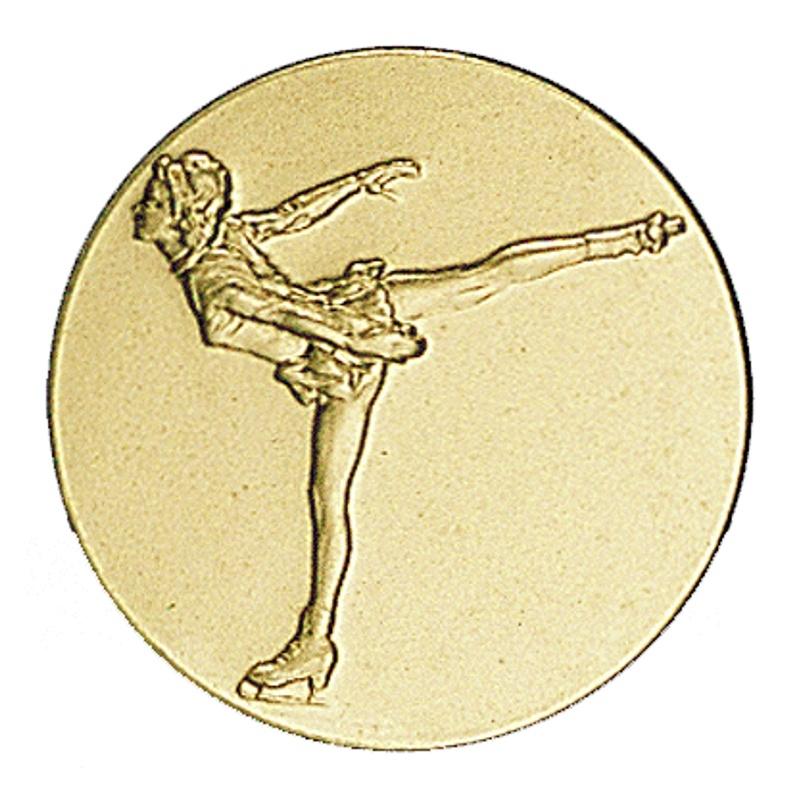 Pastille dorée patinage artistique féminin