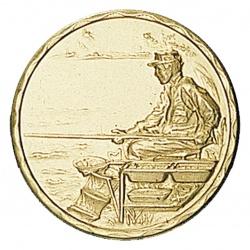 Pastille dorée pêcheur