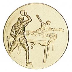Pastille dorée tennis de table, ping pong