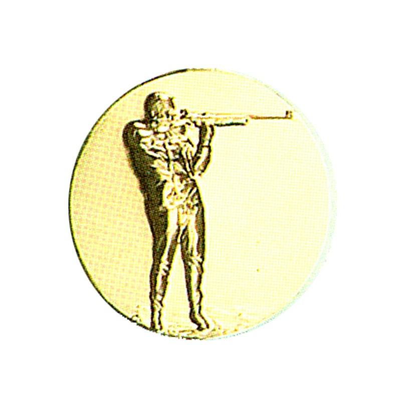 Pastille dorée tir sportif