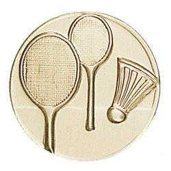 Pastille dorée badminton
