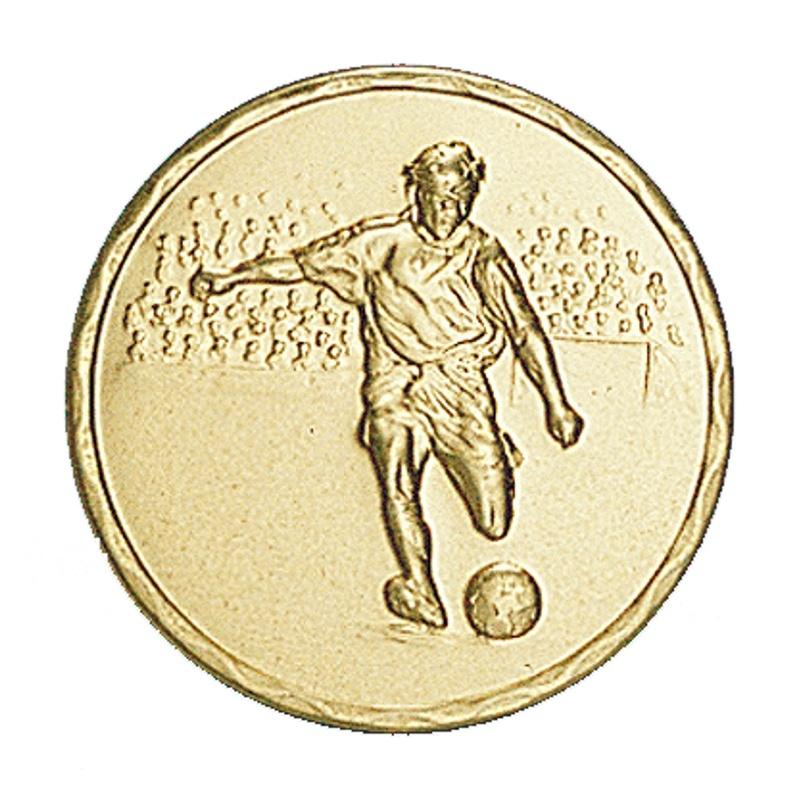 Pastille dorée foot, football