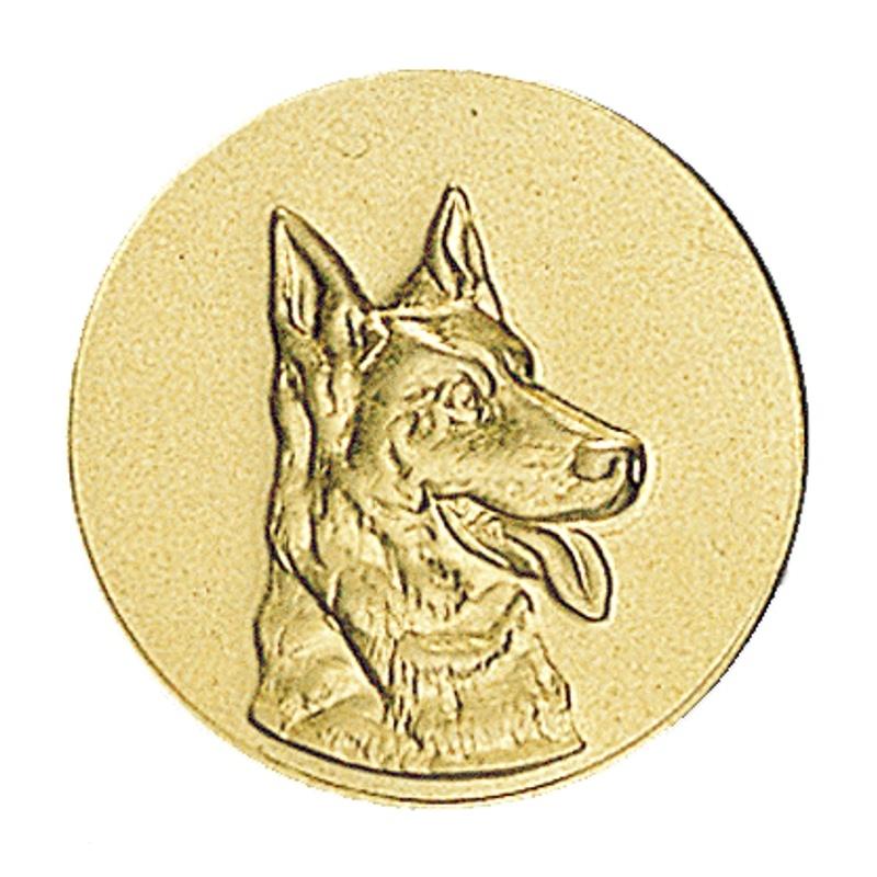Pastille chien pour coupes et médailles