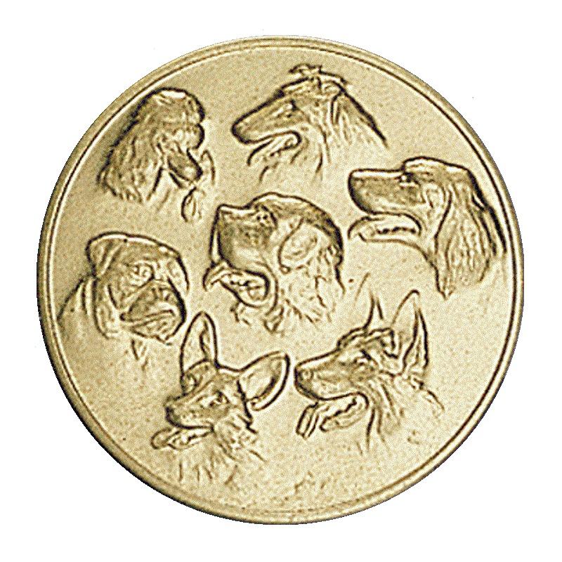 Вставки собаки для медалей и кубков