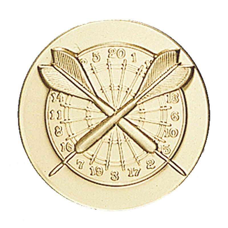 Pastille dorée darts fléchettes