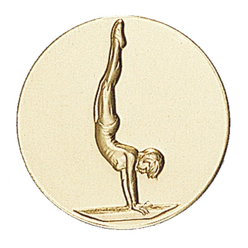 Pastille dorée gymnastique