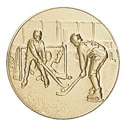 Pastille dorée hockey sur glace