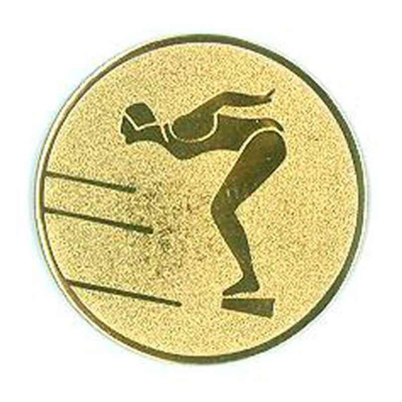 Woman Swimming Gold Center