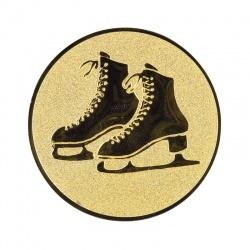 Pastille dorée patinage - Patinage sur glace