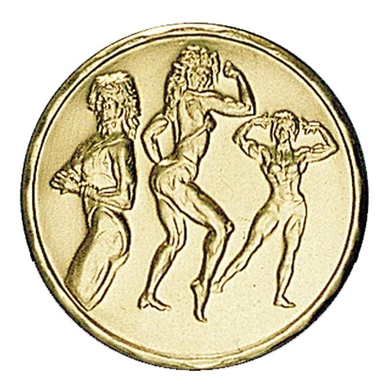 Pastille dorée bodybuilding féminin