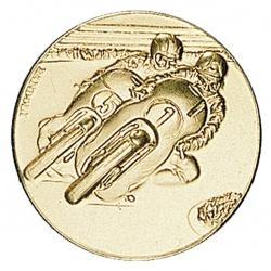 Pastille dorée courses moto