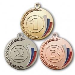 медаль с эмалированным триколором