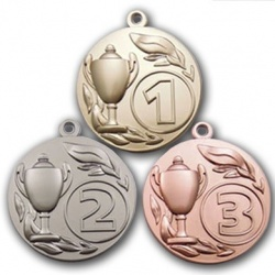 50 mm multisports matt colour medals