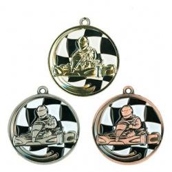médaille karting