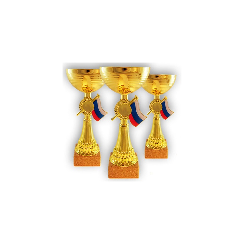 Coupe économique finition or avec drapeau tricolore