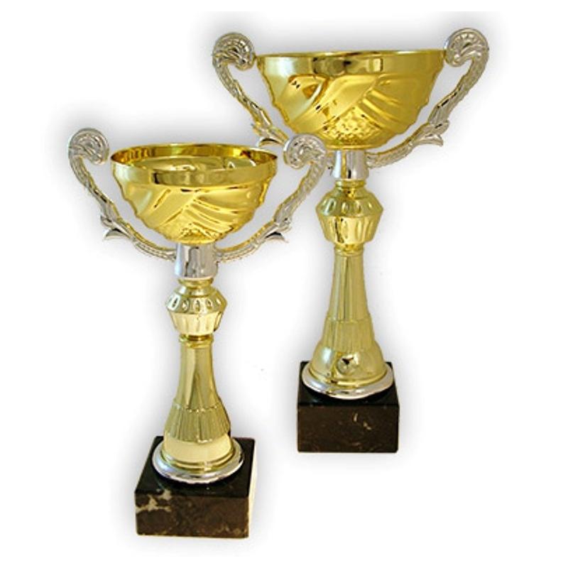 Coupe multi-sports avec anses et richement décorée