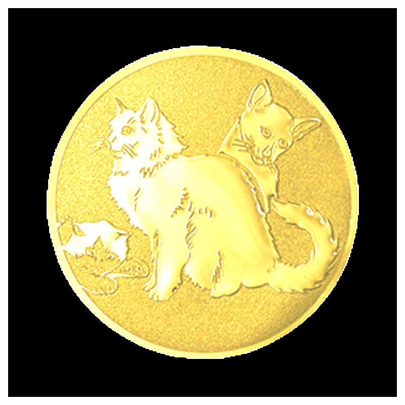 Pastille dorée chats