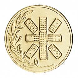 Pastille dorée domino