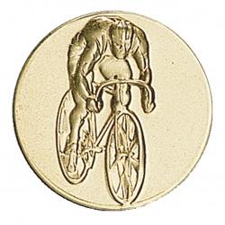 Pastille dorée cycliste