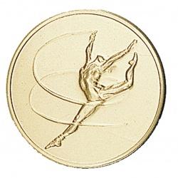 Pastille dorée gymnastique rythmique