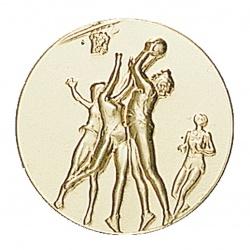 Pastille dorée basketball féminin
