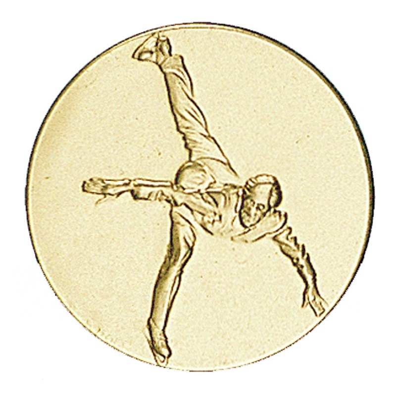 Pastille dorée patinage artistique masculin