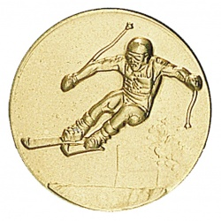 Pastille dorée ski
