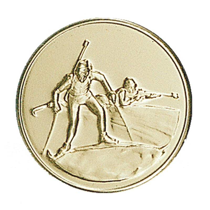 Pastille dorée biathlon