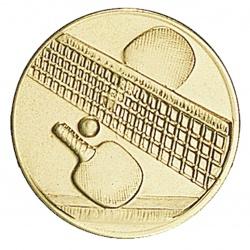 Pastille dorée tennis de table