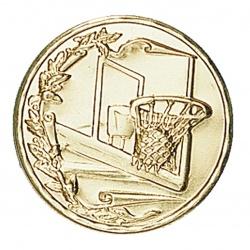 Pastille dorée basketball