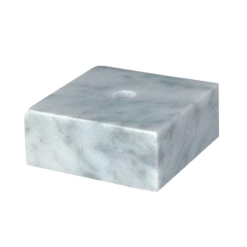 Base en marbre naturel blanc